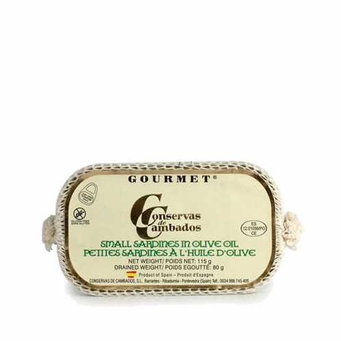 Small sardines in olive oil 115g