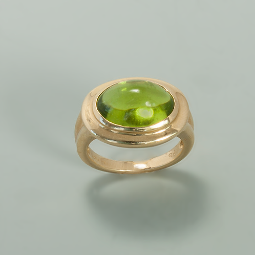 Peridot & Gold Ring
