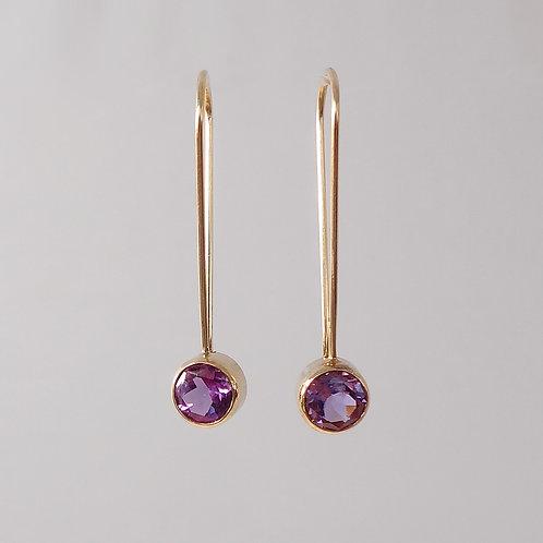 """Amethyst """"Hanging"""" Earrings"""