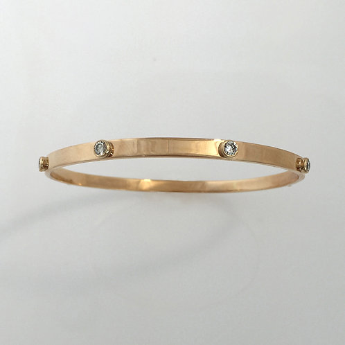 Diamond & 14k Gold Bangle
