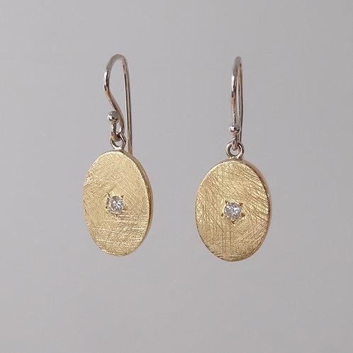 Diamond & Gold Drop Earrings