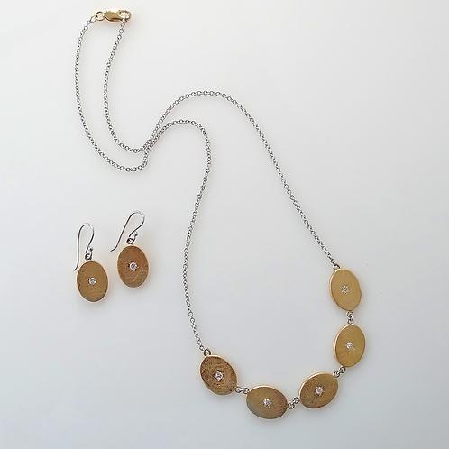 Yellow & White Gold & Diamond Necklace