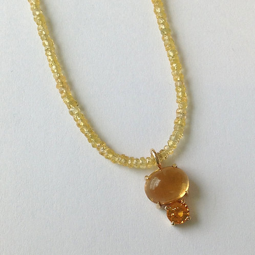 Citrine & Yellow Sapphire Necklace