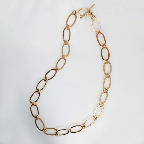 Gold Link Necklace, Smaller Link (Made to Order)