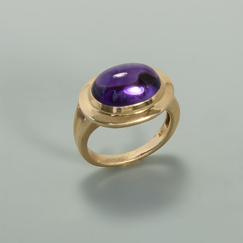 Amethyst & Gold Ring