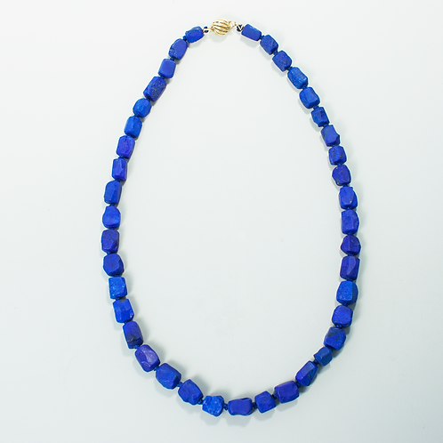 Natural Afghanistan Lapis Bead Necklace