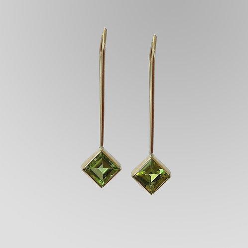 """Peridot """"Hanging"""" Earrings"""