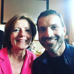 Mit Malu Dreyer auf einer Wahlkampfveranstalterin