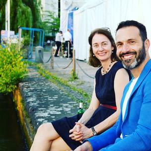 Mit Katarina Barley beim Hoffest der SPD-Bundestagsfraktion
