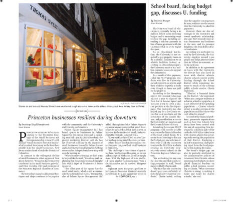 Princeton businesses resilient during downturn
