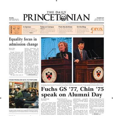 Fuchs GS '77, Chin '75 apeak on Alumni Day