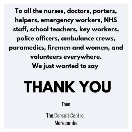 From us all at The Consult Centre