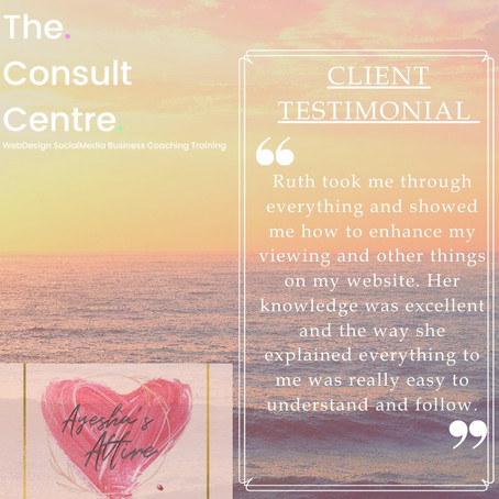 Another lovely testimonial from Soaad Patel.