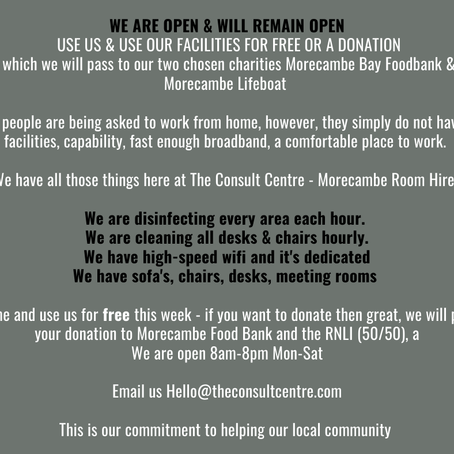We are open & will remain open