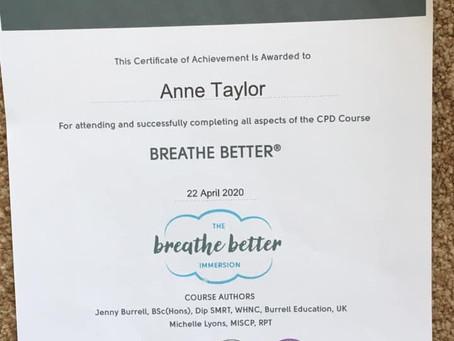 My Breathe Better certificate