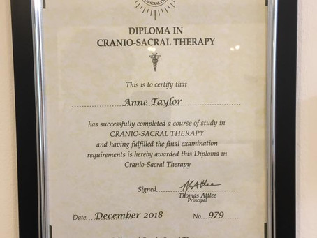 CranioSacral certificate