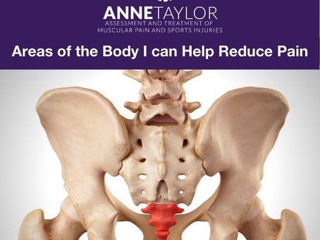 Areas of the body I can help reduce pain in.