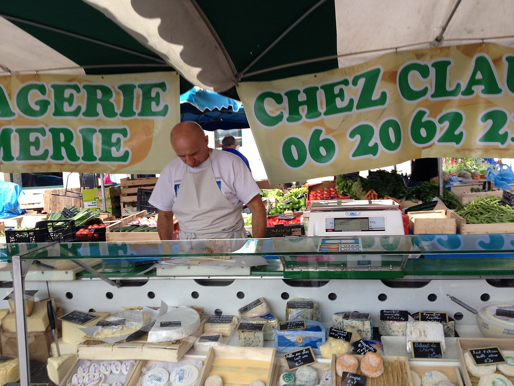 Cheese monger in Provence