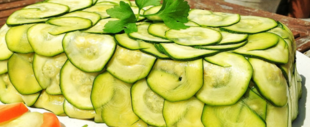 Zucchini & basil terrine