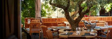 Terrace dining at L'Oustalet