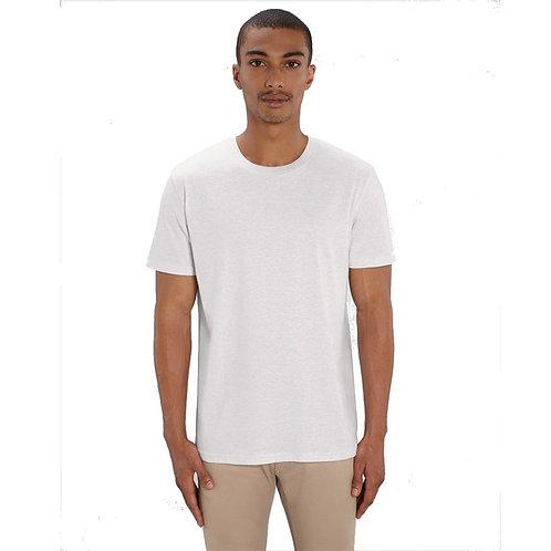 T-shirt Homme col rond gris crème chiné en coton BIO