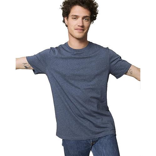 T-shirt Homme bleu chiné en coton BIO
