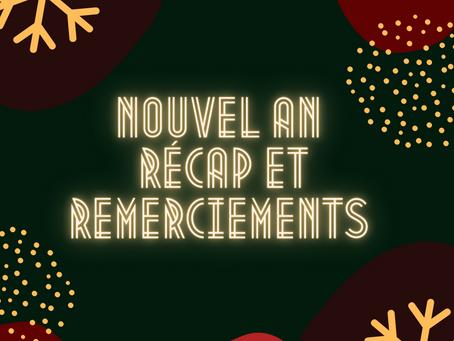 Nouvel an: récap et remerciements