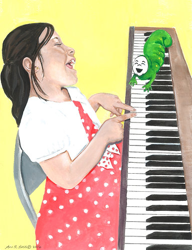 Petunia on the Piano