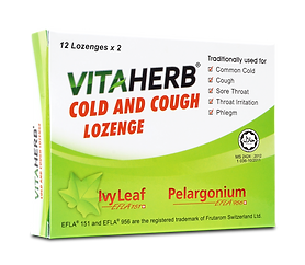 VITAHERB COLD AND COUGH LOZENGE - 12 x 2