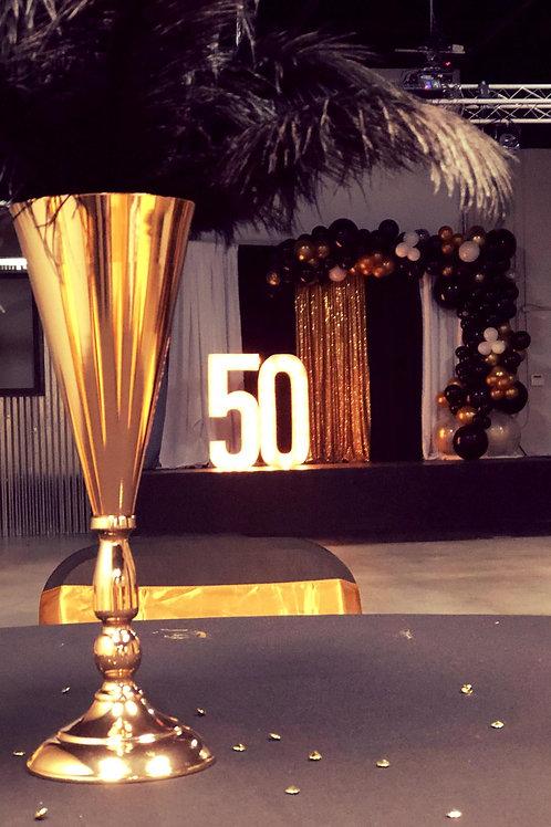 "Gold 28"" Vase"