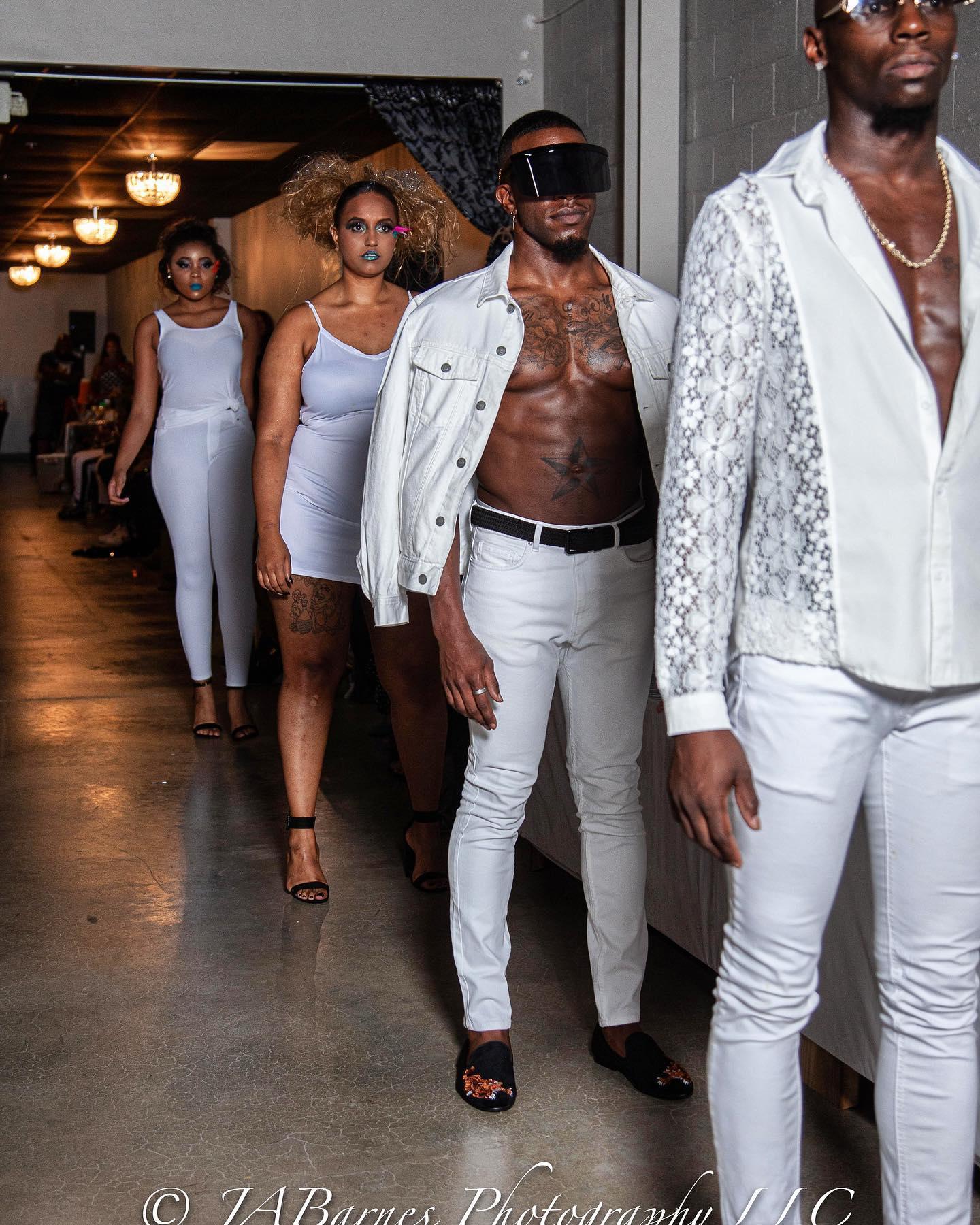 models getting ready to walk