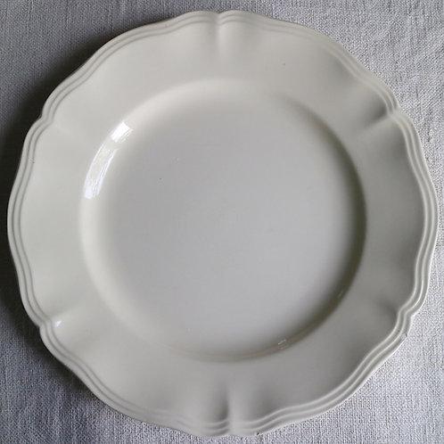 0089 sarreguemines 花リム Ø 22,5cm平皿