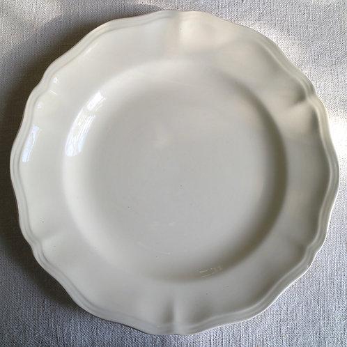 0083 sarreguemines 花リム Ø 25,5cm平皿チップあり