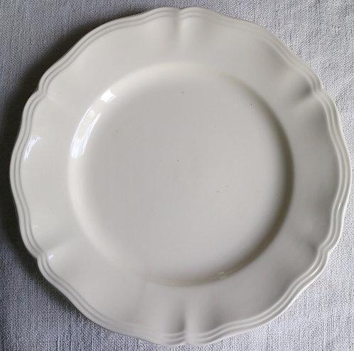 0087 sarreguemines 花リム Ø 22,5cm平皿