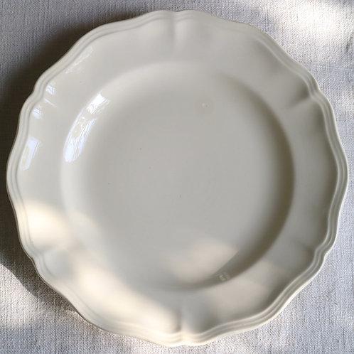 0084 sarreguemines 花リム Ø 25,5cm平皿チップ