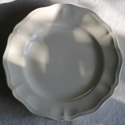 0082 sarreguemines 花リム Ø 25,5cm平皿