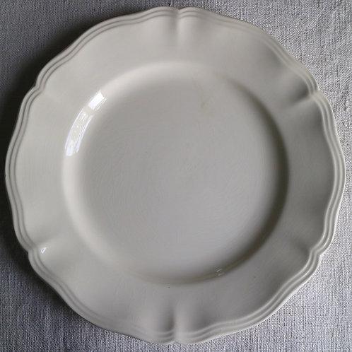 0090 sarreguemines 花リム Ø 22,5cm平皿