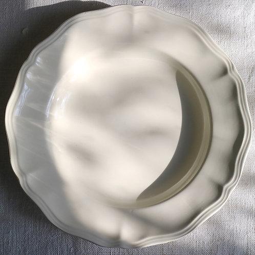 0080 sarreguemines 花リム Ø 25,5cm深皿