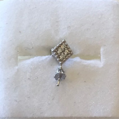 Tiny Diamond Earrings