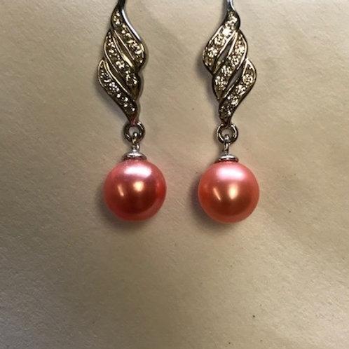 Triple Twist Bling Earrings