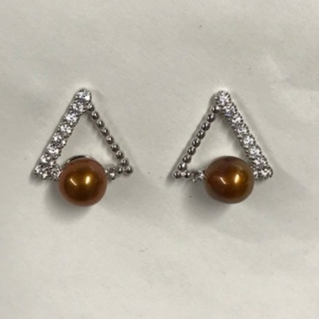 Triangle Bling Earring