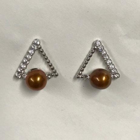 Triangle Bling Earring