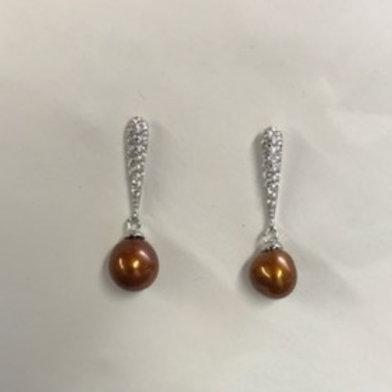 Fancy Stone Stud Earring