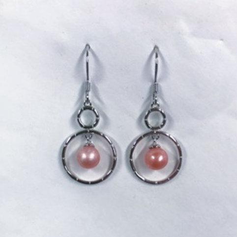 Double Circle Dangle Earrings
