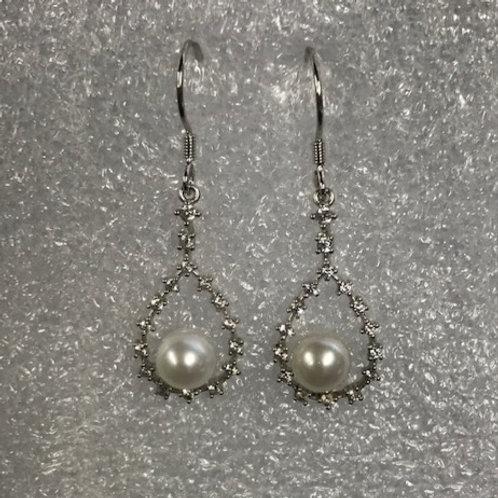 Bling Oval / Dangle Earrings
