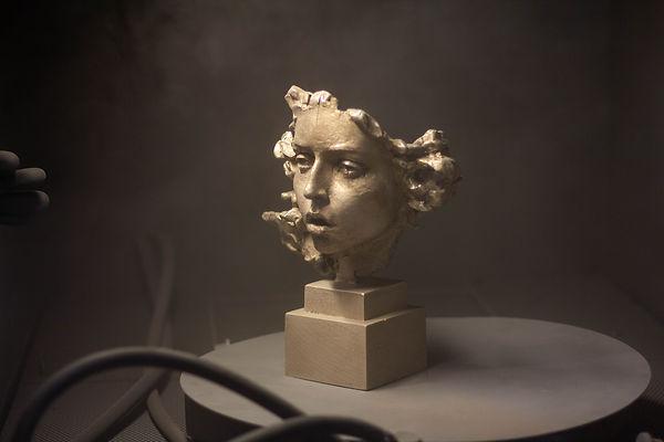 Medusa, bronze sculpture by the contemporary sculptor Irina Shark.