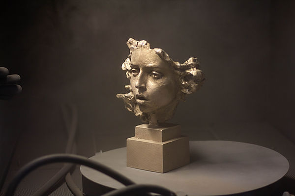 Medusa, bronze sculpture by the contemporary sculptor Irina Shark.
