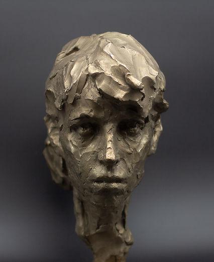 Sculptor Irina Shark, bronze sculpture Androgynous