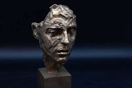 Bronze sculpture Mask of Camille by Irina Shark