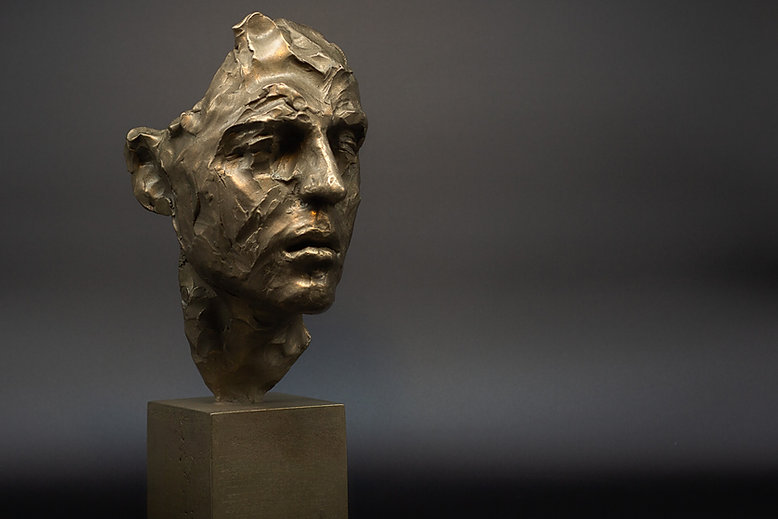 Sculpture in bronze Mask of Camille by Irina Shark